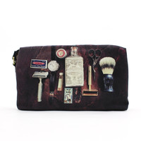 T-Shirts, Polos & Tops  - Paul Smith Accessories Vintage Shaving Kit Print Black Wash Bag