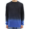 Religion Lombard Dip Dyed Knit Navy Sweatshirt