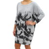 Religion Marl Print Over Sized Grey Dress