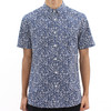Religion Micro Floral Short Sleeve Blue Shirt