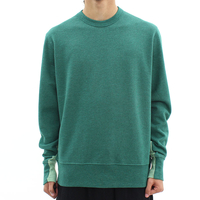 Mens  - YMC Green Split Crew Sweat