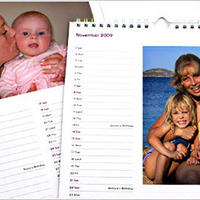 Personalised Gifts  - Standard Personalised Photo Calendar