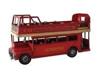 Model-making  - AEC Routemaster Open Top Bus Tinplate Model Bus