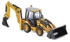 CAT 432E Side Shift Backhoe Loader with Tools in Yellow (1:50 scale by Norscot 55149)