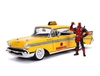 Chevrolet Bel Air Taxi with Figure Diecast Model Car from Deadpool