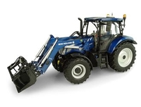 Model-making  - New Holland T6 175 `Blue Power` with Front Loader Diecast Model Tractor