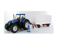 Model-making  - New Holland T7000 with Figures Plastic Model Tractor