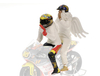 Valentino Rossi Riding with Angel Figure (GP 250 1999)