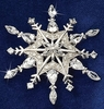 Waltz of The Snowflakes Diamond Brooch