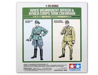 Model-making  - Wehrmacht Officer and Africa Corps Tank Crewman Figure