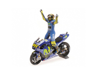 Vehicles  - Yamaha YZR-M1 with Figure (Valentino Rossi - Winner Assen Moto GP 2017) Diecast Model Motorcycle