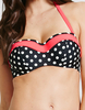 Figleaves Tuscany Spot Bandeau Top Black/White/Red