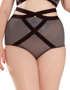 Lingerie  - Scantilly By Curvy Kate Captivate High Waist Brief Slate