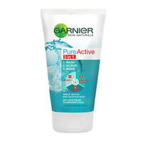 Creams & Lotions  - Garnier Skin Naturals Pure Active 3 in 1 Wash/Scrub/Mask 150ml