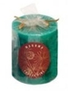 Himalaya Maroma Frosty Pine Green Pillar Candle