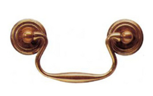 Fittings  - Cabinet Handle 89 mm - Antique Brass Unlacquered