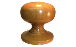 Knobs & Handles  - Caledonia Wood Mortice Knobs Light Oak Finish - Standard finish