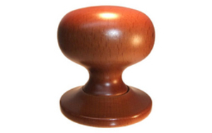 Knobs & Handles  - Caledonia Wood Mortice Knobs Medium Oak Finish - Standard finish