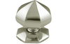 Centre Door Knob 76 mm - Satin Nickel Plate