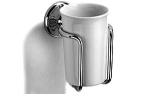 Fittings  - Ceramic Tumbler and Holder - Polished Chrome Plate
