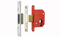 Security Locks & Padlocks  - Deadlock Euro-Profile 67 mm - Polished Brass Lacquered