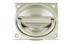 Flush Handle 75 x 75 mm - Satin Chrome Plate