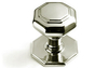 Octagonal Centre Knob 102 mm - Polished Brass Unlacquered