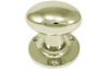 Oval Mortice Knobs 59mm - Polished Nickel Plate