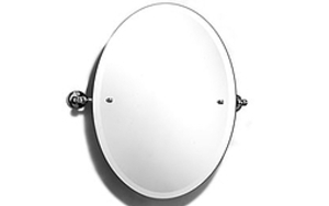 Oval Tiliting Mirror - Satin Stainless Finish