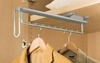 Pull-Out Wardrobe Rail 505 mm - Standard finish