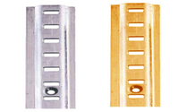 Fittings  - Raised Bookcase Strip 1829mm - Electro Brass Plated