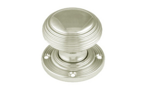 Knobs & Handles  - Reeded Bun Knobs 57 mm - Polished Brass Lacquered
