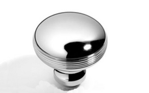 Reeded Bun Knobs 57 mm - Satin Chrome Plate