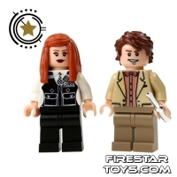 Lego  - Custom Design Mini Figure - Doctor Who and Amy Pond