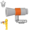 LEGO - Megaphone - Light Blueish Gray and Orange