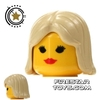 LEGO Hair - Center Parting - Tan