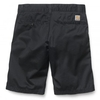 Belts|Caps|Shorts & Bermudas|Flip Flops|Flip Flops Carhartt Unit Bermuda shorts in black rinsed 8.8 oz cotton/polyester Cortez twill
