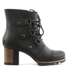 Addington Black Leather Lace Up Ankle Boot