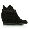 Ash Bowie Black Suede Womens Wedge High Top