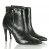 Black Reptile Montpelier Ankle Boot