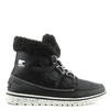 Cozy Carnival Black Lace Up Sporty Fleece Lined Boot