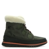 Shoes|Women's Shoes|Boots|Trainers & Running Shoes Cozy Carnival Nori & Black Lace Up Sporty Fleece Lined Boot
