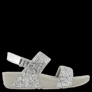 Glitterball Silver Ankle Strap Sandals