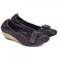 Shoes  - K&S Black 31 31660 Womens Low Wedge Shoe