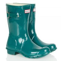 Shoes|Boots|Lace-up shoes  - Lagoon Green Original Gloss Short Womens Wellington Boot