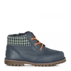 Navy Suede Toddlers Orin Lace Up Boot