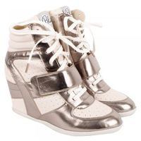 Gloves|Shoes  - Pewter District Womens Wedge High Top Trainer