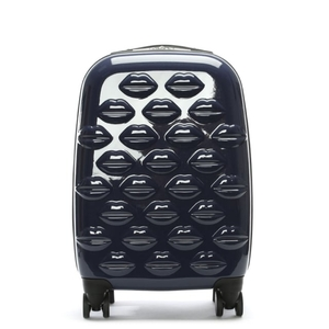 Small Lips Navy Hardsided Spinner Suitcase