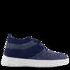 Uberknit Navy Metallic Slip On High Top Trainers