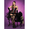 Women's Raven Corset With Support Boning And Side Zipper
